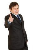 target1492_0_ elegancki biznesmena palec uśmiechający się ty Zdjęcie Royalty Free