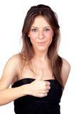 target1581_0_ dziewczyna atrakcyjnego modela Obrazy Royalty Free