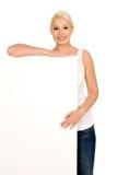 target1595_1_ szyldowej kobiety Zdjęcie Royalty Free
