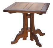 target1642_0_ odizolowywający kwadrata stołu biel Zdjęcia Stock