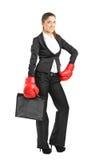 target1650_1_ kobiety teczek bokserskie rękawiczki Zdjęcie Royalty Free