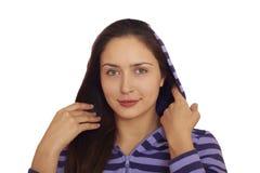 target1679_0_ figlarnie ładnego brunetki dziewczyna Zdjęcie Royalty Free