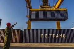 TARGET168_0_ ładunku portowego miejsce portowa kolej Obraz Stock