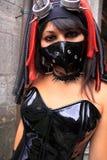 target170_0_ kobiety czarny smokingowy pvc Obrazy Royalty Free
