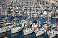 target1709_1_ wiele jachty zatoczki dockyard Obraz Royalty Free