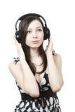 target1724_1_ muzykę dziewczyna hełmofony obrazy royalty free
