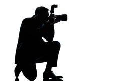 target1755_1_ mężczyzna fotografa sylwetka Zdjęcia Stock