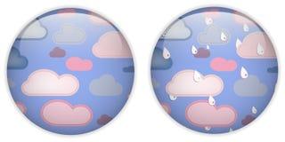 target1799_0_ śliczną ikonę guzik chmura Zdjęcie Stock