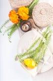 target182_1_ stół świąteczni kwiaty Fotografia Stock