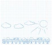 target1890_1_ dzieciaka wektor śliczne ręki royalty ilustracja