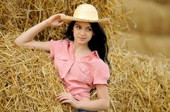 TARGET190_0_ naturę piękna dziewczyna obrazy royalty free
