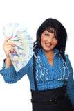 target2006_1_ atrakcyjnej kobiety atrakcyjni banknoty Obrazy Stock