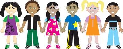TARGET201_1_ dzieciaków 4 ręki Obraz Royalty Free