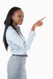 TARGET203_1_ niewidzialnego klucz bizneswoman Obrazy Royalty Free