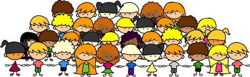 target2034_1_ dzieciaka wektor śliczne ręki royalty ilustracja