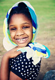 target2078_0_ potomstwa afrykański szalik Obraz Royalty Free