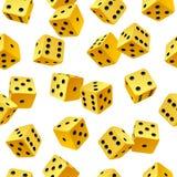 target2102_1_ bezszwowego wektorowego kolor żółty tło kostka do gry ilustracja wektor