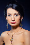 target2108_0_ kobiety piękna biżuteria Zdjęcie Stock