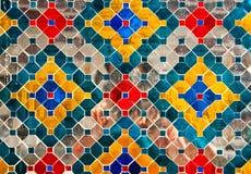 target214_1_ tajlandzka ściana Zdjęcie Royalty Free