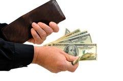 target2163_0_ mężczyzna pieniądze portfel Zdjęcie Royalty Free