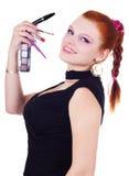 target2167_1_ kobiety piękni kosmetyki Zdjęcia Stock