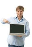 target2204_0_ ekran pusty szczęśliwy mężczyzna obrazy stock