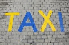 target2209_1_ szyldowy taxi Zdjęcia Stock