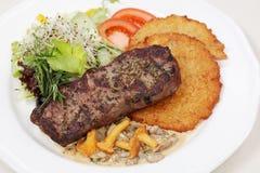 target2236_0_ świetna loin posiłku blinów wieprzowiny grula Fotografia Stock