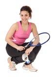 target224_0_ badminton kobieta Obrazy Royalty Free