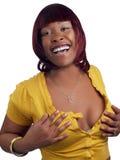 target2256_1_ pulower otwartej kobiety czarny piersi młody Obraz Stock