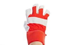 target2298_0_ praca pracownika ręki rękawiczkowa skóra s Obrazy Stock