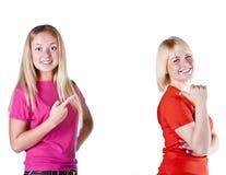 target2323_0_ studio blond dziewczyny Obraz Royalty Free