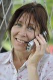 target2347_0_ telefon kobieta Zdjęcie Stock