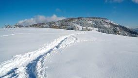target2349_0_ ścieżka wiodący halny śnieg Zdjęcia Royalty Free
