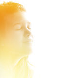 target2354_0_ dziewczyny ranek światło słoneczne nastoletni Obraz Royalty Free