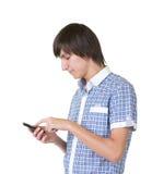 target236_1_ mężczyzna szczęśliwego telefon obraz stock