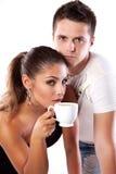 target2373_0_ mężczyzna herbaty kobieta Obrazy Stock