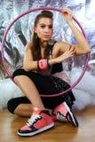 target2384_0_ kobiet potomstwa B koszula piękna różowa Fotografia Stock