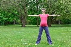 target2397_0_ kobieta w ciąży Zdjęcie Stock