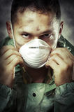 target2428_1_ mężczyzna maskowy portret smutny Zdjęcia Royalty Free