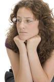 target243_0_ dosyć z ukosa kobiety obraz stock