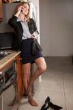 target2435_1_ kobiety działanie atrakcyjny puszek obraz stock