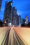 target2464_1_ nowożytny noc Shanghai tunel Zdjęcie Stock