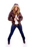 target2640_0_ kobiety trwanie żakieta widok frontowy trwanie Zdjęcia Stock