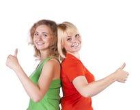 target2654_0_ studio blond dziewczyny Obraz Royalty Free