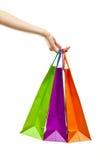target2655_1_ stubarwnego papier torby ręka Zdjęcie Stock