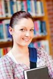 TARGET280_1_ książkę radosna młoda kobieta Obraz Royalty Free