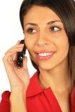 target3167_0_ telefon komórkowy kobiety Fotografia Royalty Free