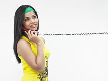 target321_0_ telefon kobieta Zdjęcie Stock