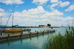 TARGET323_1_ na Jeziornym Balaton Zdjęcie Royalty Free